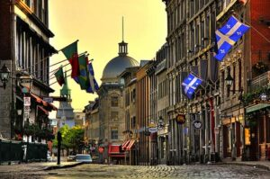 Rue St Paul in Montreal at dawn