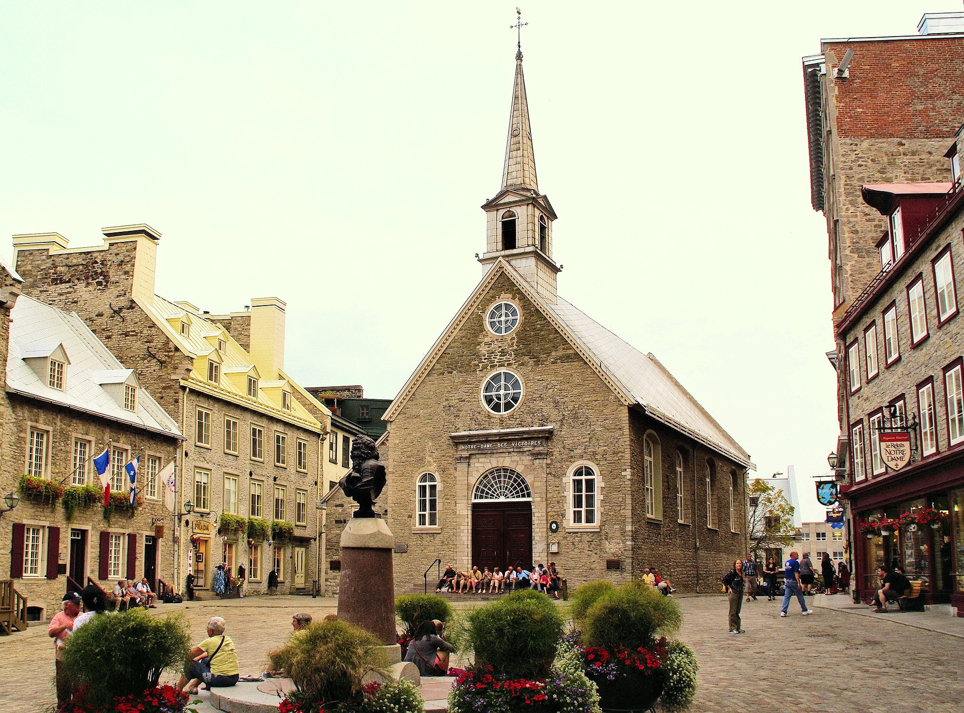 Old church in lower town quebec city school trip itinerary ideas